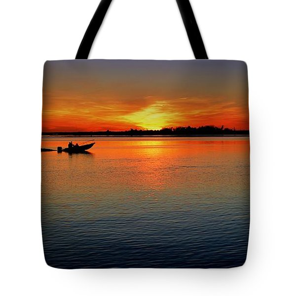 Easy Sunday Sunset Tote Bag