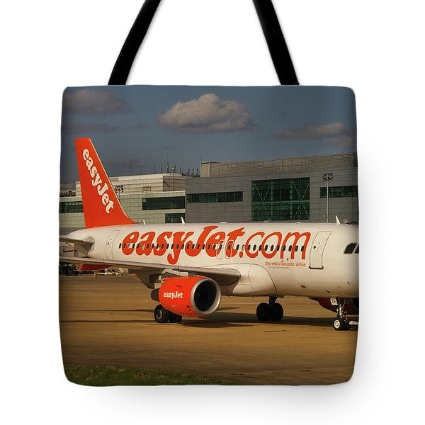 Tote Bag featuring the photograph Easyjet Airbus A319-111  by Tim Beach