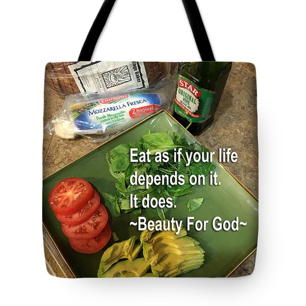 Tote Bag featuring the photograph Eat by Beauty For God