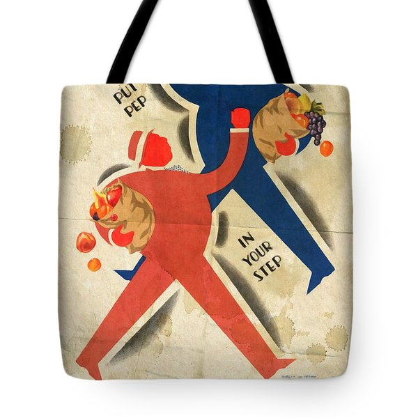 Eat More Fruit - Vintage Poster Folded Tote Bag