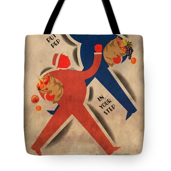 Eat More Fruit - Vintage Poster Vintagelized Tote Bag