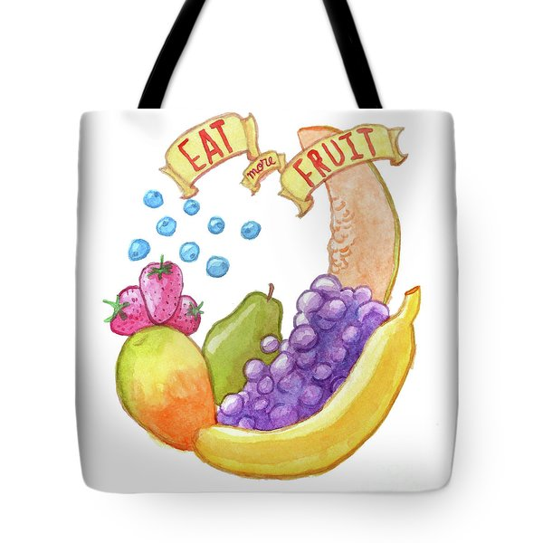 Eat More Fruit Tote Bag