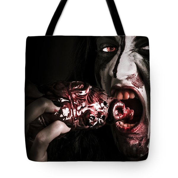 Eat Your Heart Out. Zombie Eating Bloody Heart Tote Bag