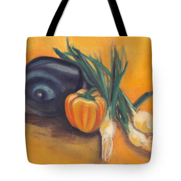 Tote Bag featuring the painting Eat Your Vegetables by Shawna Rowe