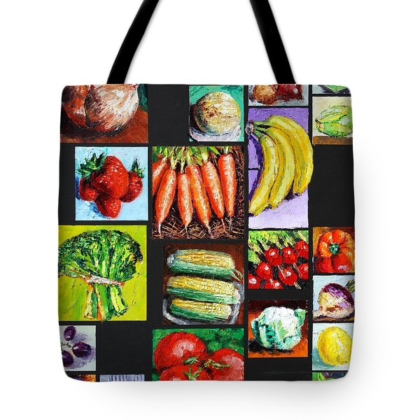 Eat Your Vegies And Fruit Tote Bag by John Lautermilch