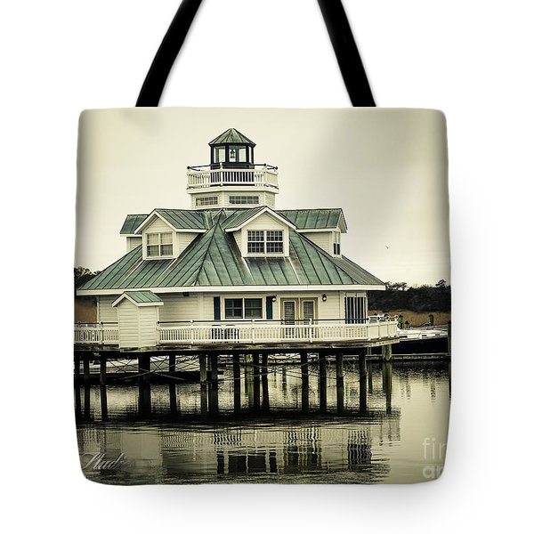 Eating On The River Tote Bag by Melissa Messick
