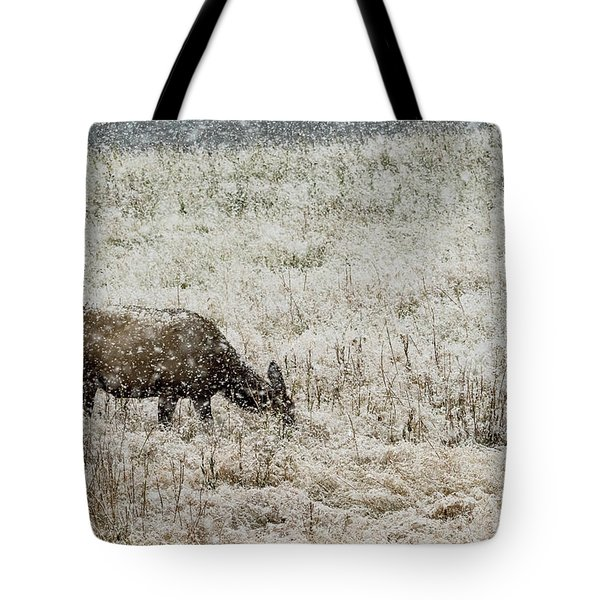 Eating Snow Maybe Tote Bag