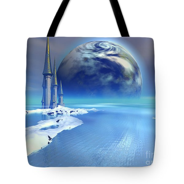 Ebb And Flow Tote Bag by Corey Ford