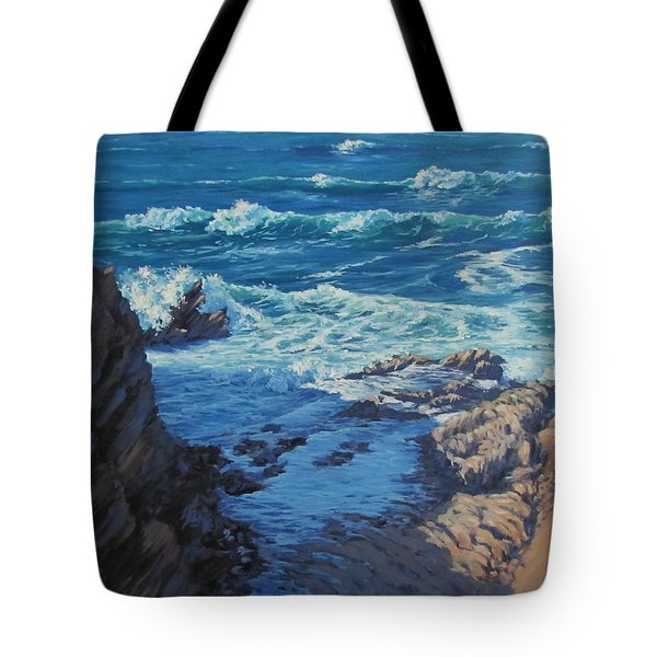 Ebb And Flow Tote Bag by Karen Ilari