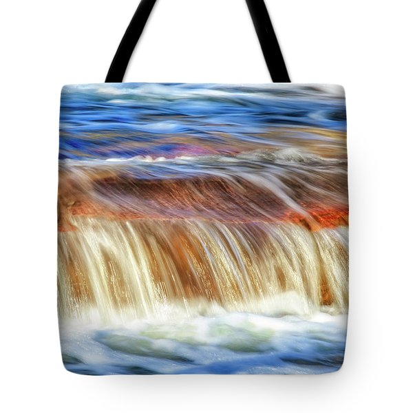 Tote Bag featuring the photograph Ebb And Flow, Noble Falls by Dave Catley