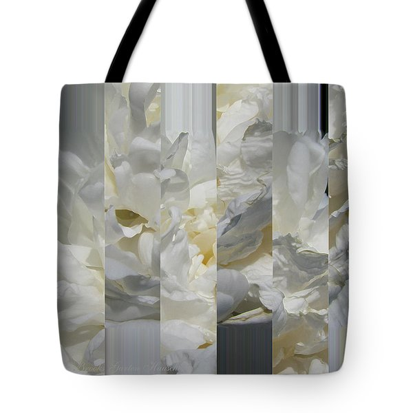 Ebony And Ivory Peony - Floral Abstract Tote Bag