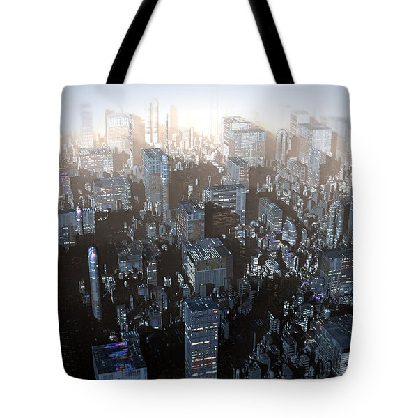 Ebony City Tote Bag