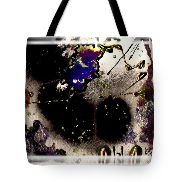 Tote Bag featuring the mixed media Ebony Nights by Angela L Walker