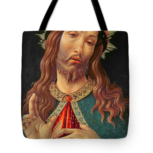 Ecce Homo Or The Redeemer Tote Bag by Botticelli