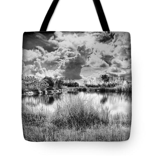 Everglades Lake 5678bw Tote Bag