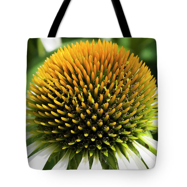 Tote Bag featuring the photograph Echinacea - Head And Shoulders by Wendy Wilton