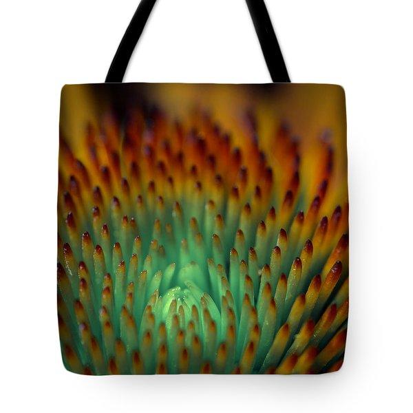 Echinacea Macro Tote Bag