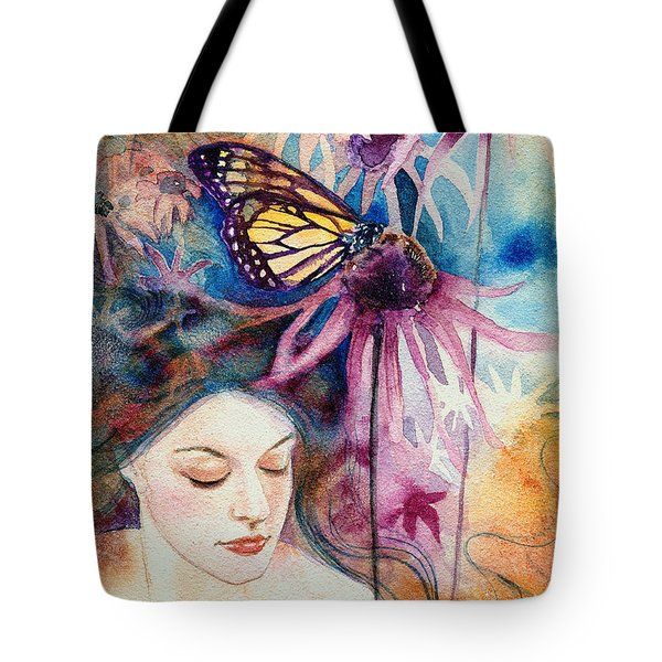 Tote Bag featuring the painting Echinacea by Ragen Mendenhall