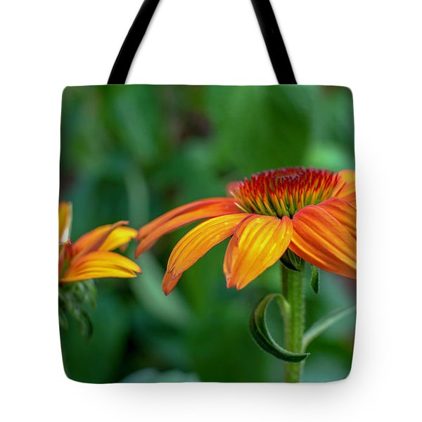 Echinacea Side View Tote Bag