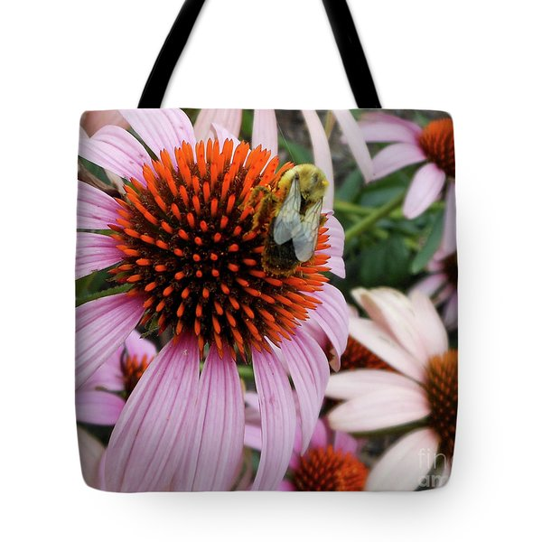 Echinacea Tea Time For Bee Tote Bag