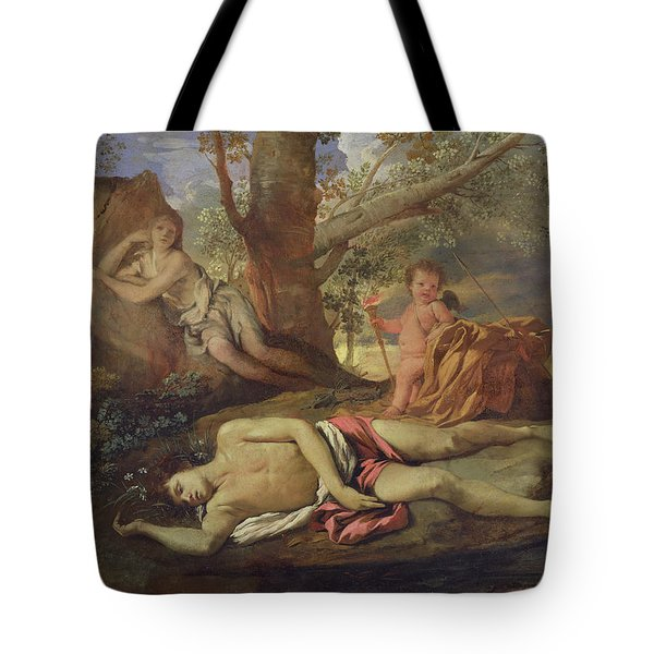 Echo And Narcissus  Tote Bag by Nicolas Poussin
