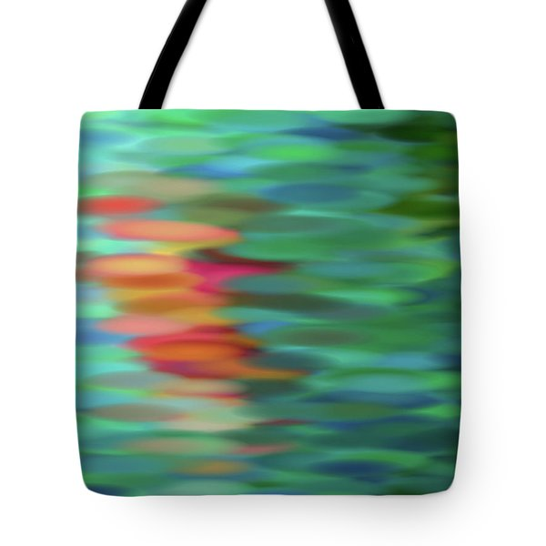Tote Bag featuring the mixed media Echo by Tom Druin