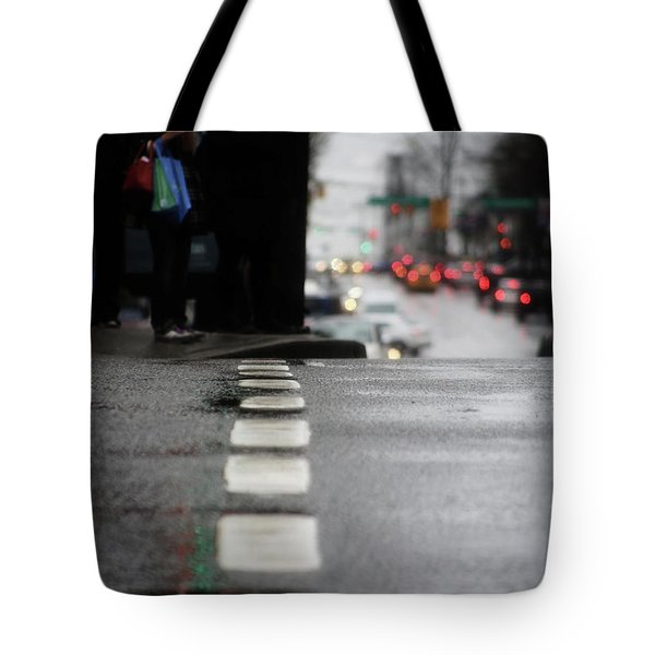 Tote Bag featuring the photograph Echoes In The Rain Drops  by Empty Wall