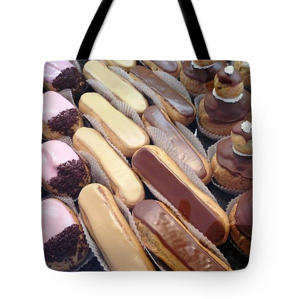 Tote Bag featuring the photograph Eclaires by Therese Alcorn