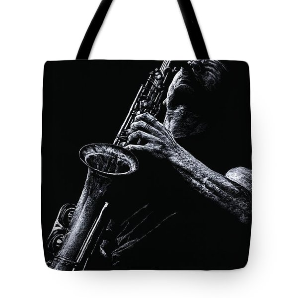 Eclectic Sax Tote Bag by Richard Young