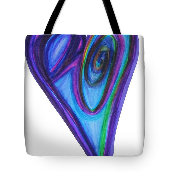 Eclipse Eve Heart Tote Bag