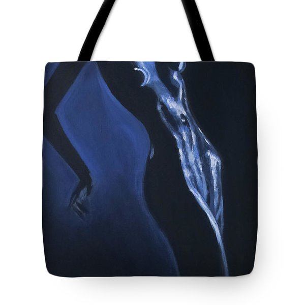 Tote Bag featuring the painting Eclipse by Jarko Aka Lui Grande
