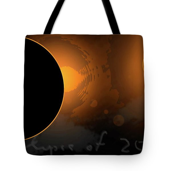 Eclipse Of 2017 W Tote Bag