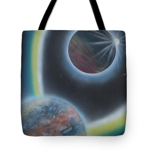 Tote Bag featuring the painting Eclipsing by Mary Scott