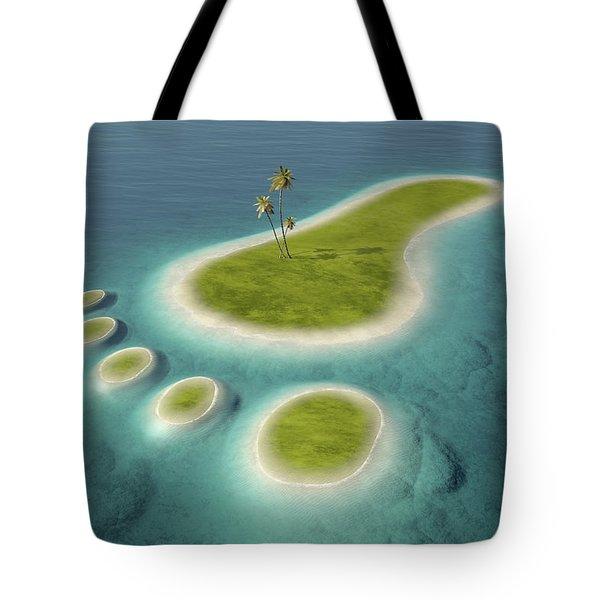 Eco Footprint Shaped Island Tote Bag