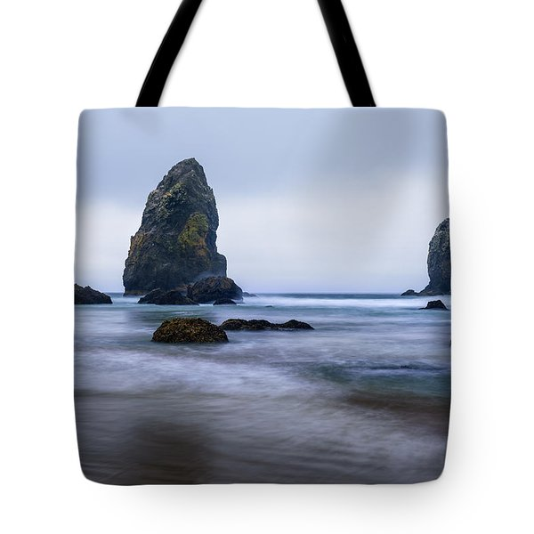 Tote Bag featuring the photograph Ecola Beach by John Gilbert