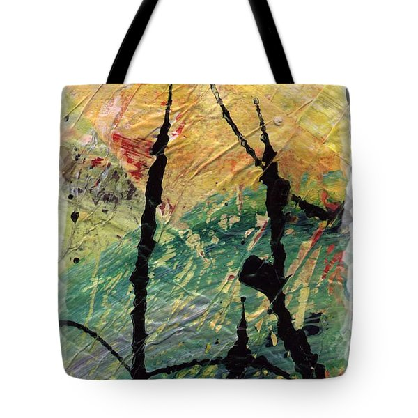 Tote Bag featuring the painting Ecstasy II by Angela L Walker