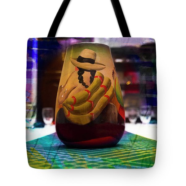 Tote Bag featuring the photograph Ecuadorian Vase Art by Al Bourassa