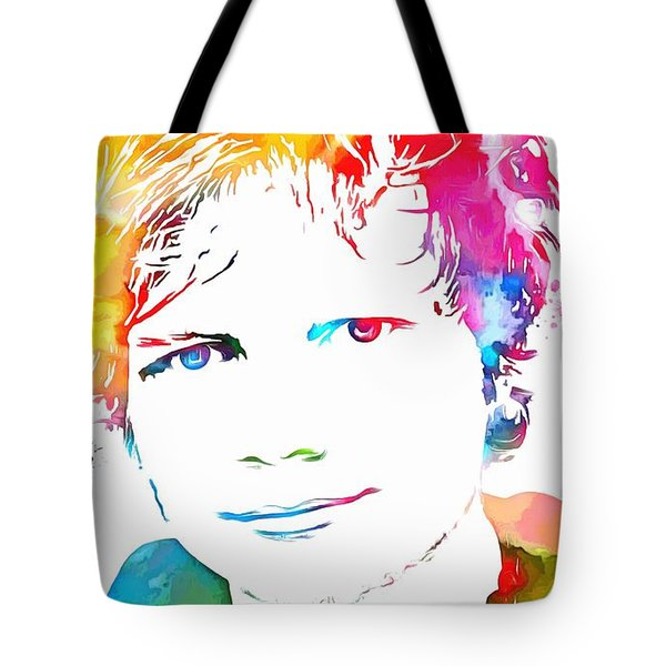 Ed Sheeran Paint Splatter Tote Bag by Dan Sproul