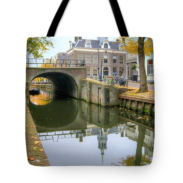 Tote Bag featuring the photograph Edam Town Hall by David Birchall