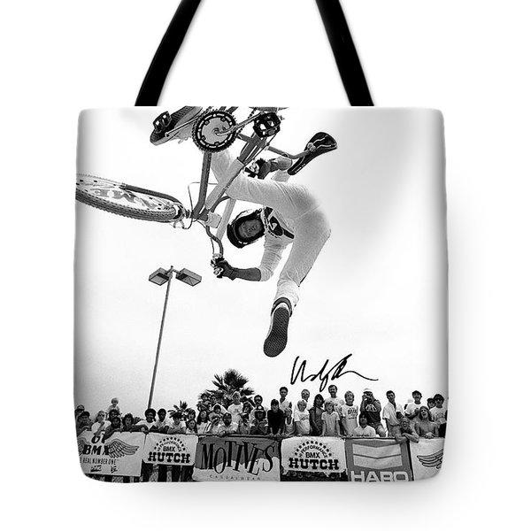 Eddie Fiola Freestylin' Cover 1986 Tote Bag