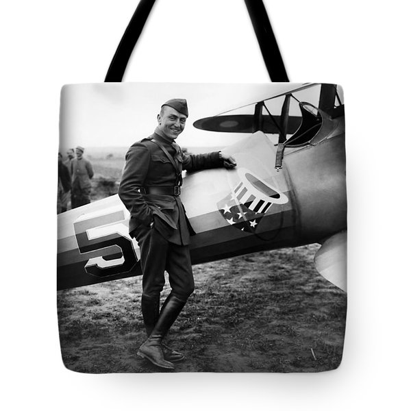 Eddie Rickenbacker - Ww1 American Air Ace Tote Bag