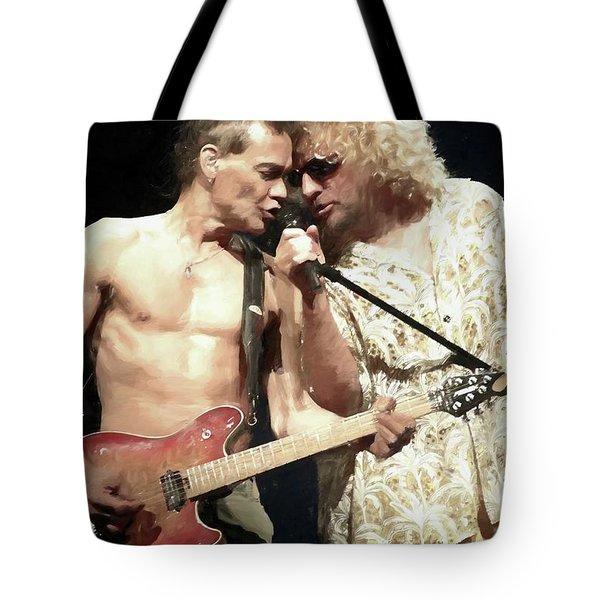 Eddie Van Halen And Sammy Hagar Painting Tote Bag