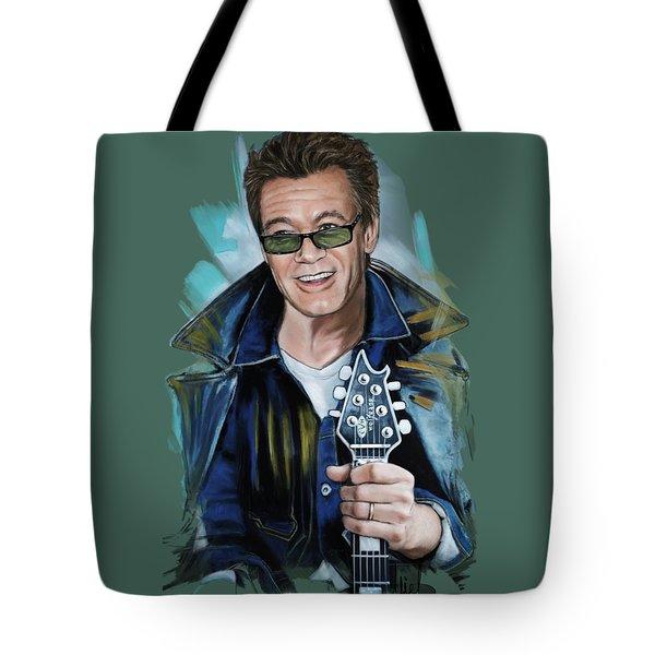 Eddie Van Halen Tote Bag by Melanie D