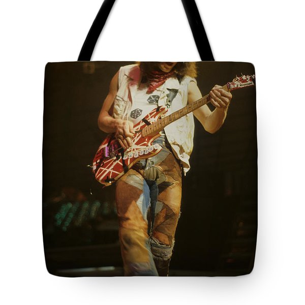 Eddie Van Halen Tote Bag by Rich Fuscia
