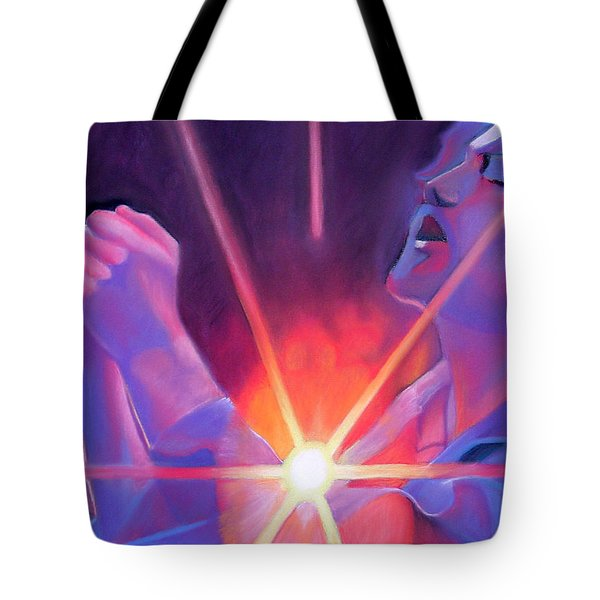 Eddie Vedder And Lights Tote Bag by Joshua Morton
