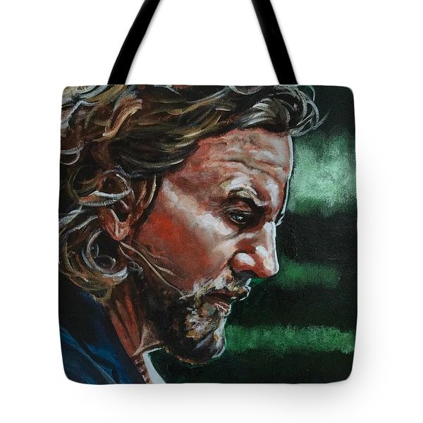 Eddie Vedder Tote Bag by Joel Tesch