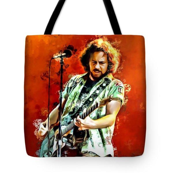 Eddie Vedder Painting Tote Bag