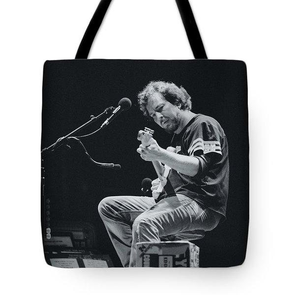 Eddie Vedder Playing Live Tote Bag