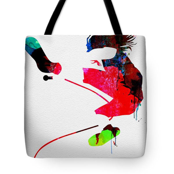 Eddie Watercolor Tote Bag by Naxart Studio