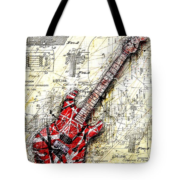 Eddie's Guitar 3 Tote Bag by Gary Bodnar